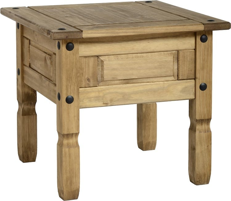 Corona Mexican Pine Side / Lamp Table - Let Us Furnish