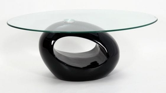 Dale Coffee Table In Black High Gloss, Fibre Glass