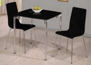 Fiji High Gloss Black Small Dining Set