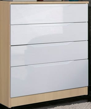 Genona Oak and Cream Chest of drawers