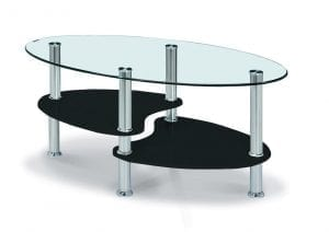 Hurst Black High Gloss Coffee Table