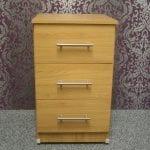 Rimini Oak 3 Drawer Bedside