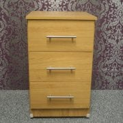 Rimini Oak 3 Drawer Bedside