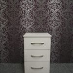 Lisbon White 3 Drawer Bedside