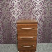 Tuscany Walnut 3 Drawer Bedside
