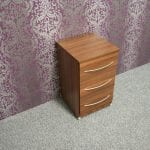 Tuscany Walnut 3 Drawer Bedside