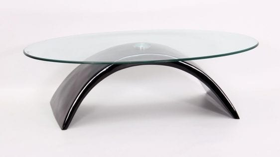 Morgan Coffee Table In Black High Gloss, Fibre Glass