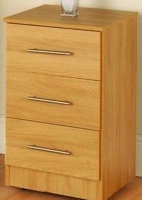 sterling rimin oak 3 drawer bedside
