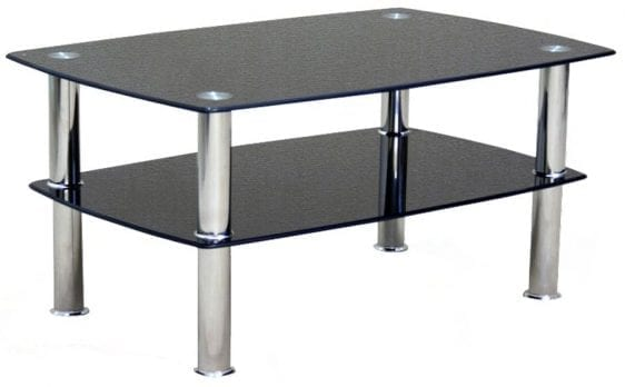 Togo Black Glass Coffee Table
