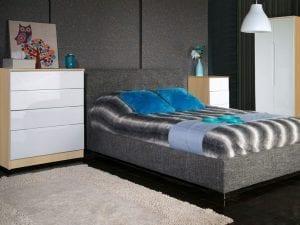 Genoa Oak and Cream Bedroom set