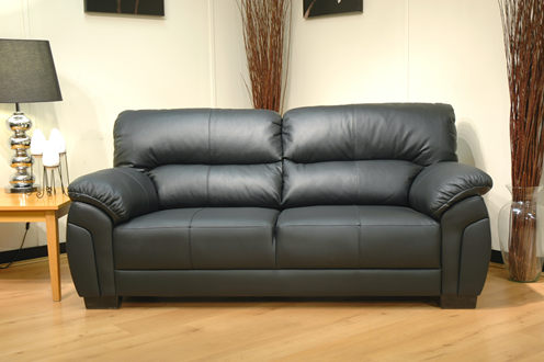 Ancona Black 2 Seat Sofa