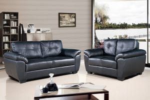 Brisbane Sofa Set In Black