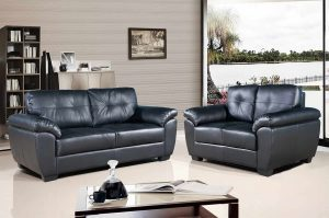 Brisbane Sofa Set In Black