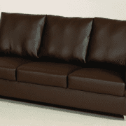 3 Seater In Brown