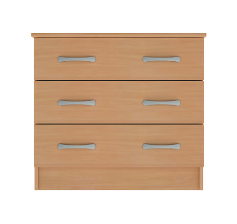 classic 3 drawer wide chest 10