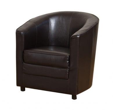 Leatherette Deep Seat Tub Chair