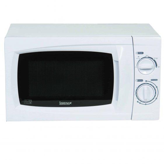 Igenix IG2070 - Microwave oven - freestanding - 20 litres - 700 W - white