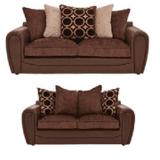 Petra Sofa Set In Brown