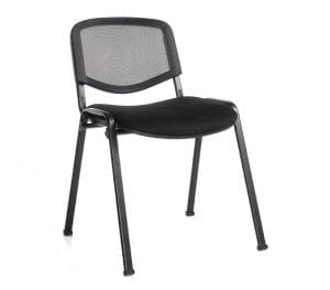 Taurus Black Mesh Stacking Chair