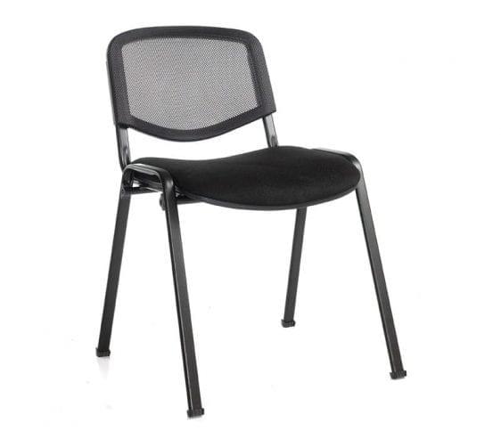 Taurus Black Mesh Stacking Chair