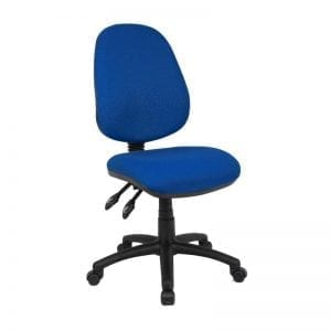 Vantage 100 Fabric Operator Chair In Blue Fabric