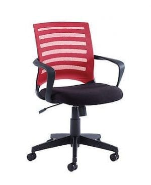 Vega Fabric Mesh Chair In Red