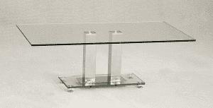 Ankara Coffee Table Glass & Chrome