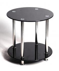 Benton Black Lamp Table