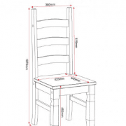 Mexican Pine Chair Measurements