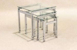 Epsom Nest of Tables Chrome/Glass