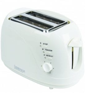 Igenix IG3001 2 Slice Toaster – White