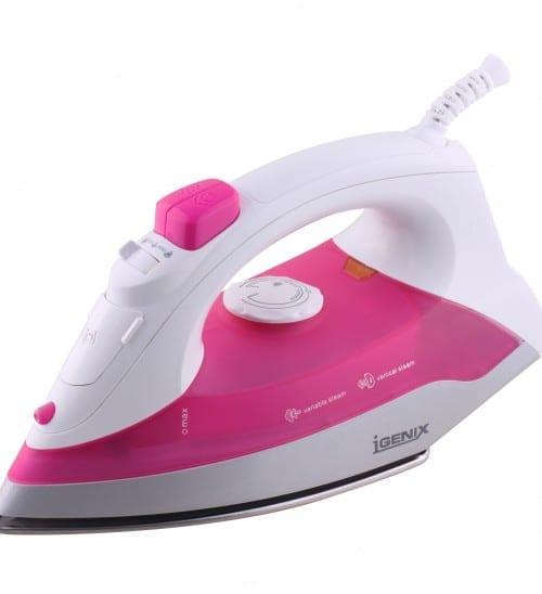 Igenix IG3111 1200W Steam Iron – Pink/White