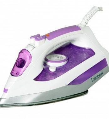 Igenix IG3121 2000W Steam Iron – White/Purple
