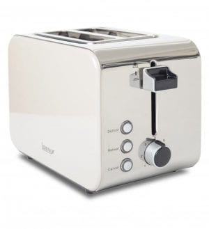 Igenix IG3202C 2 Slice Toaster – Metallic Cream and Polished Stainless Steel