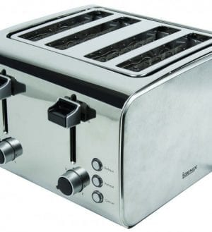Igenix IG3204 4 Slice Toaster – Brushed and Polished Stainless Steel