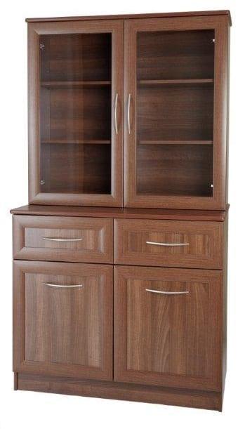 lucerne sideboard with dresser top back bow handle opera walnut