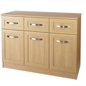 lucerne 1200 wide sideboard chisel handles oak