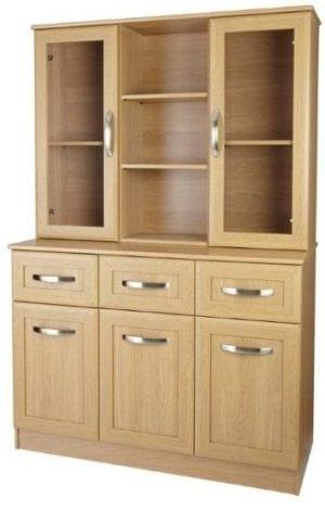 lucerne 1200 wide sideboard with dresser top back chisel handle oak