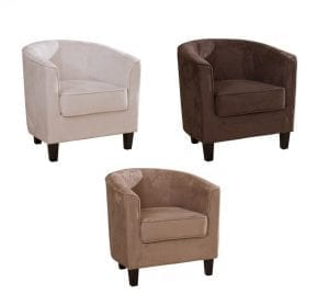Suede Tub Chairs