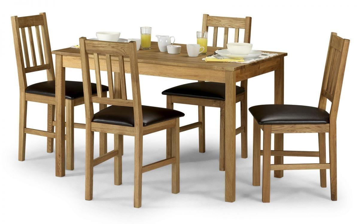 White Oak Rectangular Dining Set