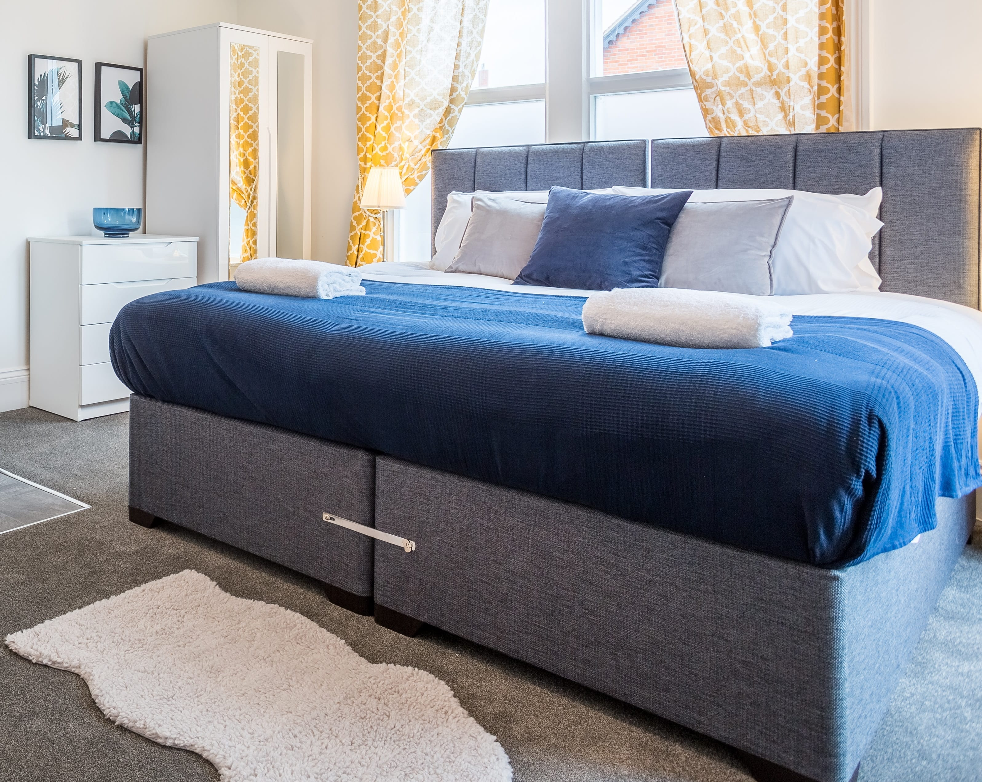 Picture of: Aamira Zip Link Bed With Headboard Let Us Furnish