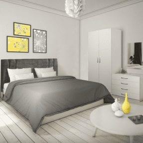 Lisbon White Bedroom Set