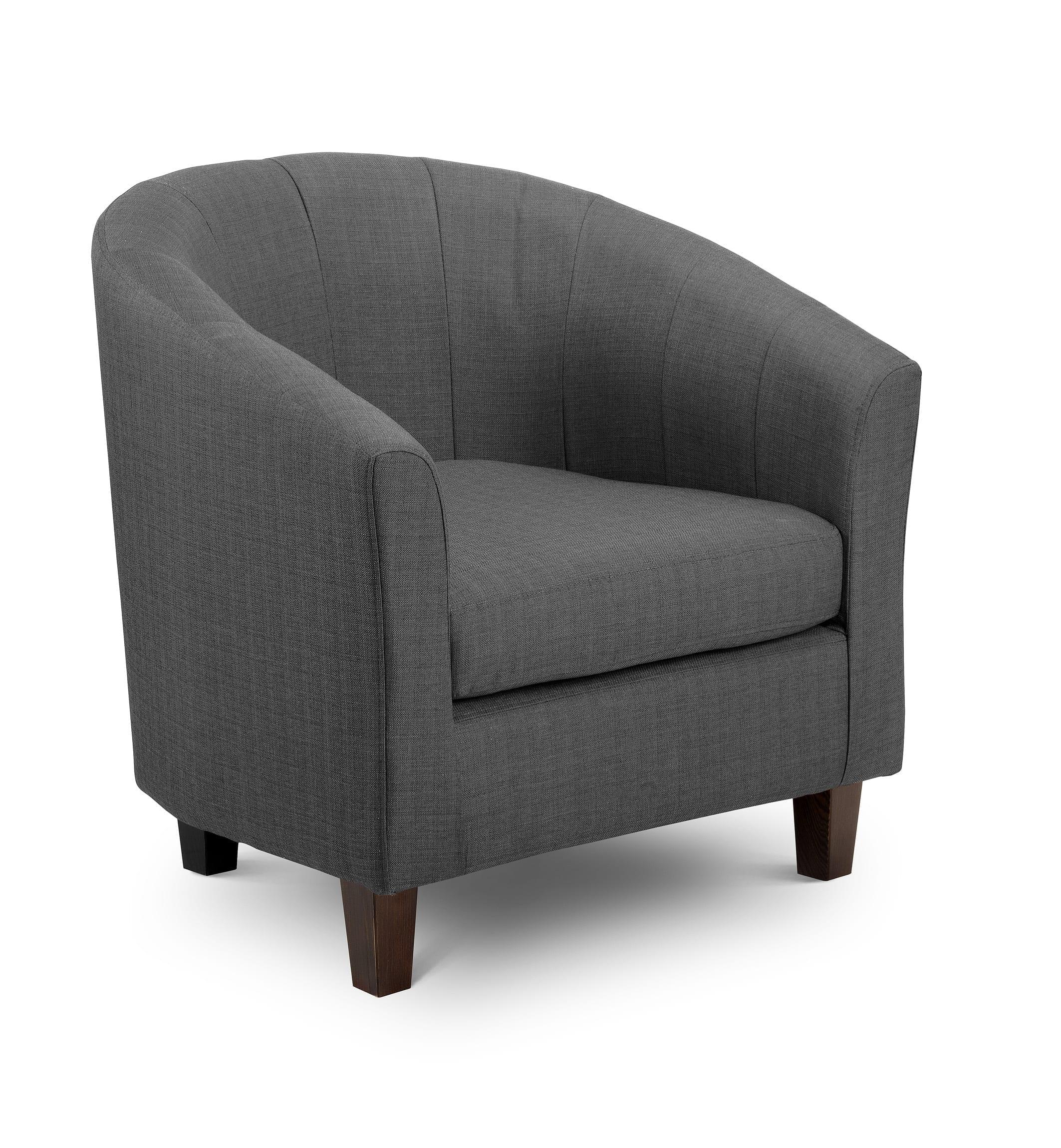grey fabric tub chair let us furnish. Black Bedroom Furniture Sets. Home Design Ideas