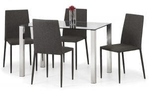 Enzo Table Jazz Chair Slate Grey Linen