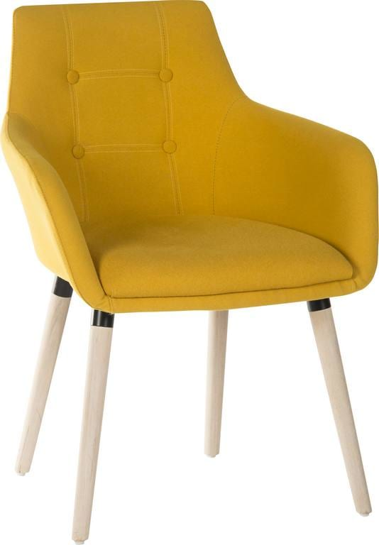 4 legged reception chair in Yellow