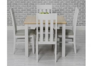 Ohio Square Table with 4 Chairs