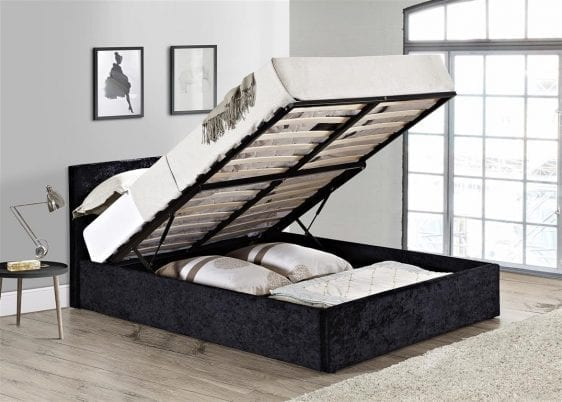 Grey Berlin Fabric Ottoman Bed