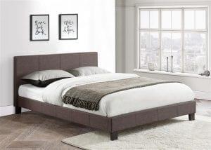 Grey Berlin Fabric Bed