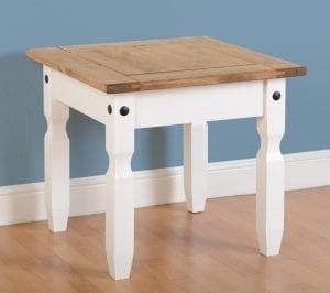 Corona Lamp Table - White