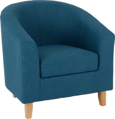 Petrol Blue Tub Chair